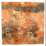 zijde_oranje_steenmotief_kader_abstract
