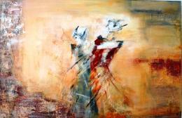 acryl_schilderij_jenny_reynaert_wulpen_koksijde_ontmoetring_toevallig_kunst_art_peinture